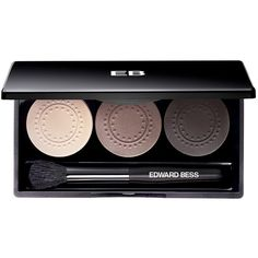 Edward Bess Expert Edit Eyeshadow Trio (3.075 RUB) ❤ liked on Polyvore featuring beauty products, makeup, eye makeup, eyeshadow, beauty, eye shadow, palettes, blender brush, glossy eyeshadow and palette eyeshadow