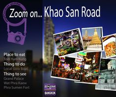 « ZOOM ON... », your weekly dose of inspiration by Bangkok in MyPocket. Inspired by the #App #Bangkok in myPocket I selected for you a few #places and #activities to plan a perfect day in the neighborhood of #Khao #San #Road… Get #inspired, miss nothing with Bangkok in MyPocket ! More details on our facebook page : http://lc.cx/V9A