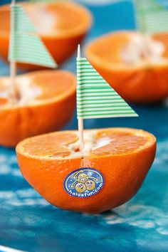Make a Halos sailboat for a fun afternoon snack!