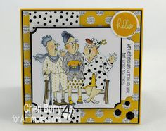 Art Impressions Rubber Stamps:  found at Hobby Lobby ... clear stamps...Dare To Be Fabulous set....handmade  girlfriends card.