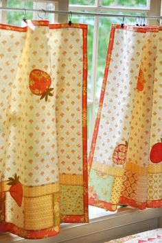 I like the creative way to hang these curtains with the clips.
