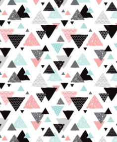 Geometric Triangle Aztec Illustration Mint and Pink. Spoonflower.