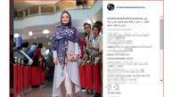 لباس زیبای خانم بازیگر در جشنی که دیشب برگزار شد