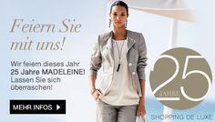 madeleine-25-years Shops, Blazer, Shopping, News, Fashion, Madeleine, Woman, Moda, Tents
