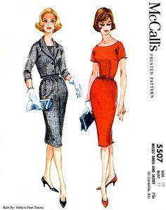 McCall's 5507 Scoop neck sheath wiggle dress by PattysPastTimes, $18.00