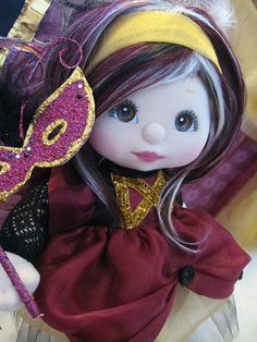 On her mask she even has swarovski crystals as a finishing touch. My Child Doll, She Mask, 1980s Toys, Princess Zelda, Disney Princess, Diy Toys, My Children, Masquerade, Childhood