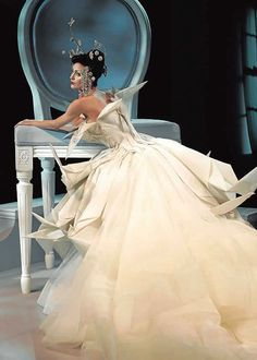 Collection Dior Haute Couture printemps/été 2007, robe Origami