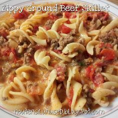 Zippy Ground Beef Skillet Recipe | No Utensil Unused