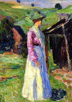 Gabriele Munter by Wassily Kandinsky (Russia)