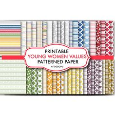 Young Women Values Patterned Paper