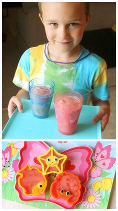 How cute --> cherry berry smoothies & watermelon cookies | Kids Stuff World www.greennutrilabs.com