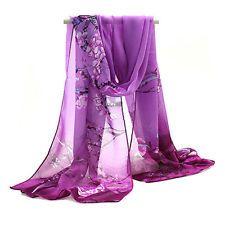 Hot Women Fashion Lady Pretty Long Soft Chiffon Scarf Wrap Shawl Stole Scarves