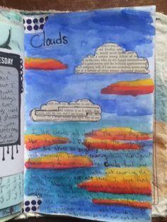 Clouds art journal