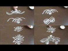 simple rangoli designs without dots - easy small kolam designs - beginners muggulu designs - YouTube