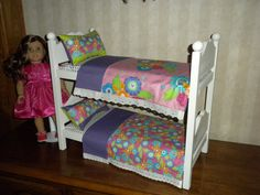 American Girl Furniture - Girls both got homemade beds for Christmas but we need more beds for other dolls. This would be perfect!