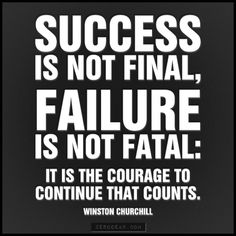 Success is not final, failure is not fatal #examresults