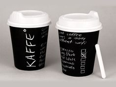 """Kaffe is a coffee shop started by 4 swedes. The handwritten charcoal aesthetic derives from the personal connection every person has with their type of coffee. This is reflected in a direct style of communication with business cards, bags, take away cups etc. personally addressing the customer."""" Designed by Felix Lobelius"""