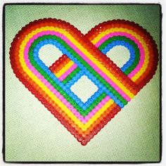 Heart perler beads by carinacai