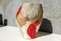 Jessica Hans - Red Spot Fossil Vase