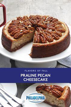 Pecan Cheesecake, Cheesecake Recipes, Cookie Recipes, Dessert Recipes, Fall Recipes, Sweet Recipes, Holiday Recipes, Just Desserts, Delicious Desserts