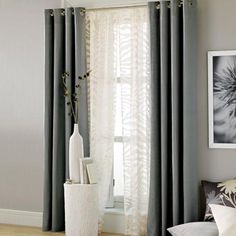 Black and White Bedroom Curtain