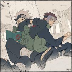 Kakashi e Yamato #NARUTO