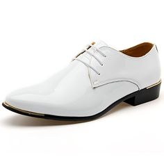 Mens Modern Lace-up Derby Wedding Dress Shoes Pleated Business Formal Shoes