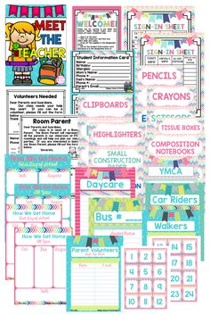 Kick off the Year right with this newly updated Meet the Teacher Packet! It's all you need to help you organize your classroom as you prepare to meet your new students!   https://www.teacherspayteachers.com/Product/Meet-the-Teacher-Forms-Signs-Editable-Files-1204833