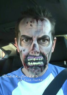 Zombie Halloween design by Cheekysmiles face painting