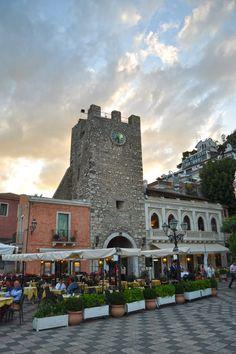 Taormina, Sicilia. champagne first night of our honeymoon. ah memories!!