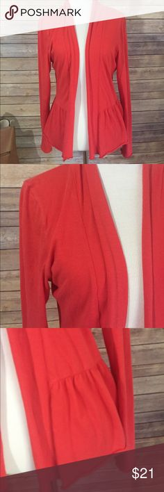 Lilla P soft Cardi Sz M/L This is a cute soft open Cardi from  Lilla P. Nice reddish orange color perfect for fall, preowned but in great condition. Super soft and cozy. The size is marked medium/large. 100% cotton, length is approximately 23 inches.  J43 Loc Lilli P Jackets & Coats