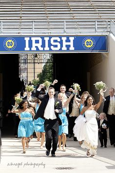 oh my gosh, ND wedding.