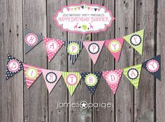 INSTANT DOWNLOAD:  Zoo Birthday Printable Happy Birthday Banner - Print at Home on Etsy, $10.00