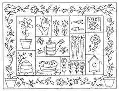 SPRINGTIME SAMPLER by Fredericksburg Rugs - Pattern Only or Complete Rug Hooking Kit