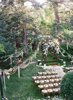 Woodland Wedding Ceremony Ideas / http://www.deerpearlflowers.com/45-dreamy-outdoor-woodland-wedding-ideas/ #WeddingCeremony