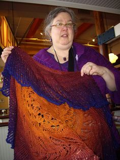 A beautiful Shipwreck shawl handspun and beaded.  Click on the photo to favorite it on Ravelry.