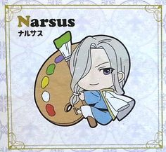 """Arslan Senki / Heroic Legend of Arslan PitaColle Rubber Strap: Narsus. The PVC Charm Measures Approximately 2.5"""" (65mm) in Height. It Comes with a Strap for Easy Attachment. Manufactured by Media Fact"""
