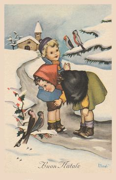 Vintage Christmas Images, Retro Christmas, Scottie, Illustrations Posters, Art Work, Postcards, Cool Art, Projects To Try, December