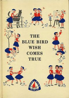 Vintage 1960s Camp Fire Girls Book The Blue by AnnesAccumulations, $15.00