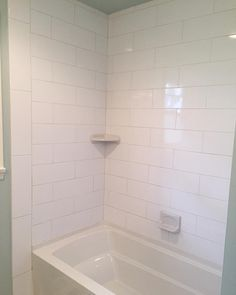 We Love Oversized Subway Tiles In This Bathroom The Addition Of - 6 x 18 white subway tile