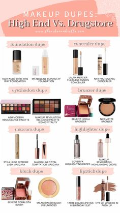 Love the look of high end makeup but hate the cost? Today, I am sharing a few of my favourite Makeup Dupes so you can have your makeup, and money too!
