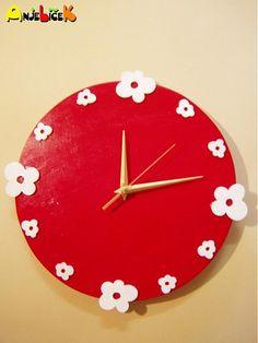anjelicek / Hodiny kvietky Clock, Wall, Home Decor, Watch, Decoration Home, Room Decor, Clocks, Walls, Home Interior Design