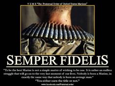 Us marine corps, Semper fi and