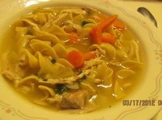 """MOM'S"" CHICKEN  NOODLE SOUP ..   for Rose #Noodles #justapinchrecipes"