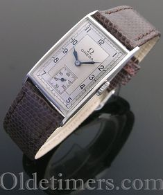 1930s steel rectangular vintage Omega watch (3989)