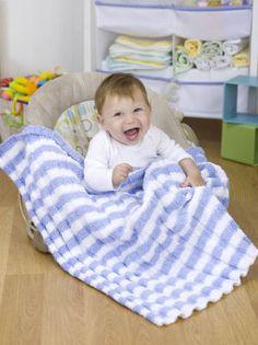 knitting pattern for baby blanket (doing mine in light blue and light green)