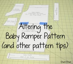 Adjusting patterns to fit your need