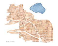 Map Butte Montana 5x7 8x10 11x14 12x16 print by SummitRidge