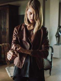 Sheep Napa Leather Jacket by FOUND. Collection www.foundcollection.co.za Proudly designed and made in South Africa Napa Leather, Making Out, South Africa, Sheep, Leather Jacket, Modern, Jackets, How To Wear, Collection