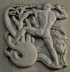 (Anonymous), Hercules and the Hydra (relief). Art Of Man, Greek Art, Classical Art, Gay Art, Art Deco Design, Figurative Art, Art Pieces, Illustration Art, Hercules Mythology